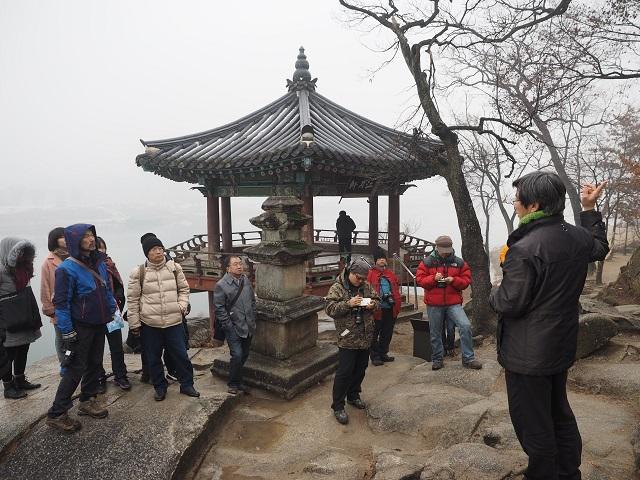 7남한강 범람을 막기 위한 상징물로 세워진 신륵사의 고려 전탑을 답사하는 참가자들.jpg