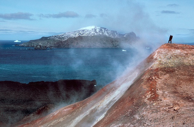 a1_A man stands in a cloud of volcanic steam in the Antarctic South Sandwich Islands_pete convey.jpg